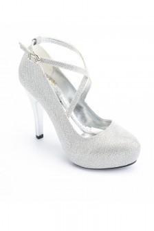 04f24d97d05c6 Moda Vindy Gümüş Rengi MVD-PLT-1308-GMS Platform Topuk Bayan Ayakkabı