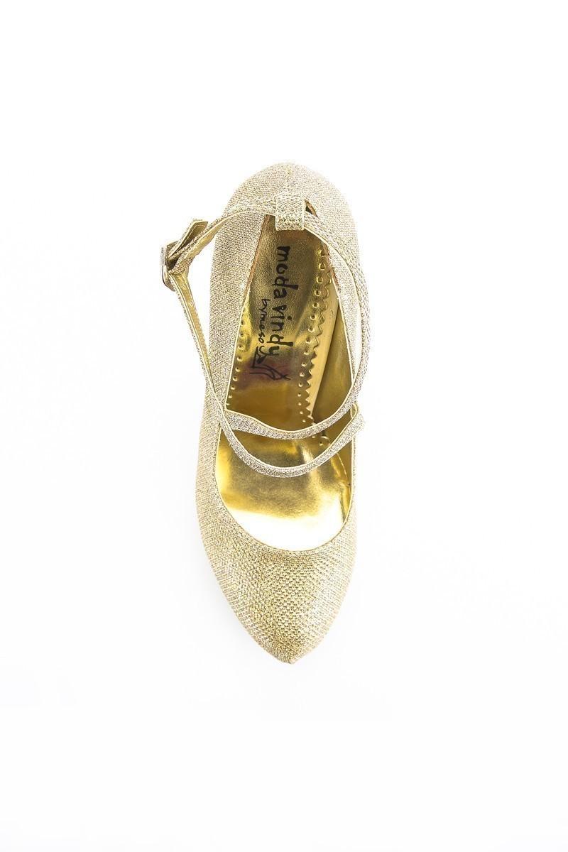 Moda Vindy Dore MVD-PLT-1308-DORE Platform Topuk Bayan Ayakkabı