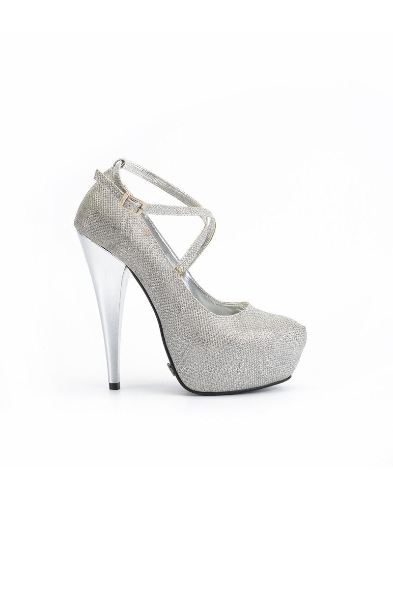 Moda Vindy Gümüş Rengi MVD-PLT-1308-AGMS Platform Topuk Bayan Ayakkabı