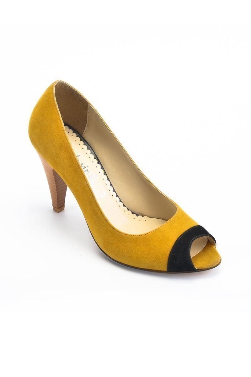Moda Vindy Hardal MVD-PLT-1190 Klasik Topuk Bayan Ayakkabı