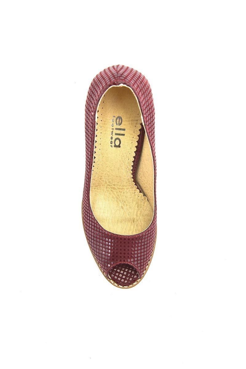 Moda Vindy Bordo MVD-PLT-1145 Klasik Topuk Bayan Ayakkabı