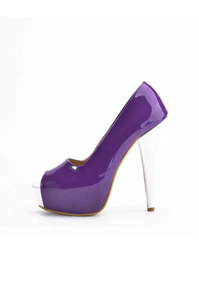 Moda Vindy Mor MVD-PLT-1101 Platform Topuk Bayan Ayakkabı