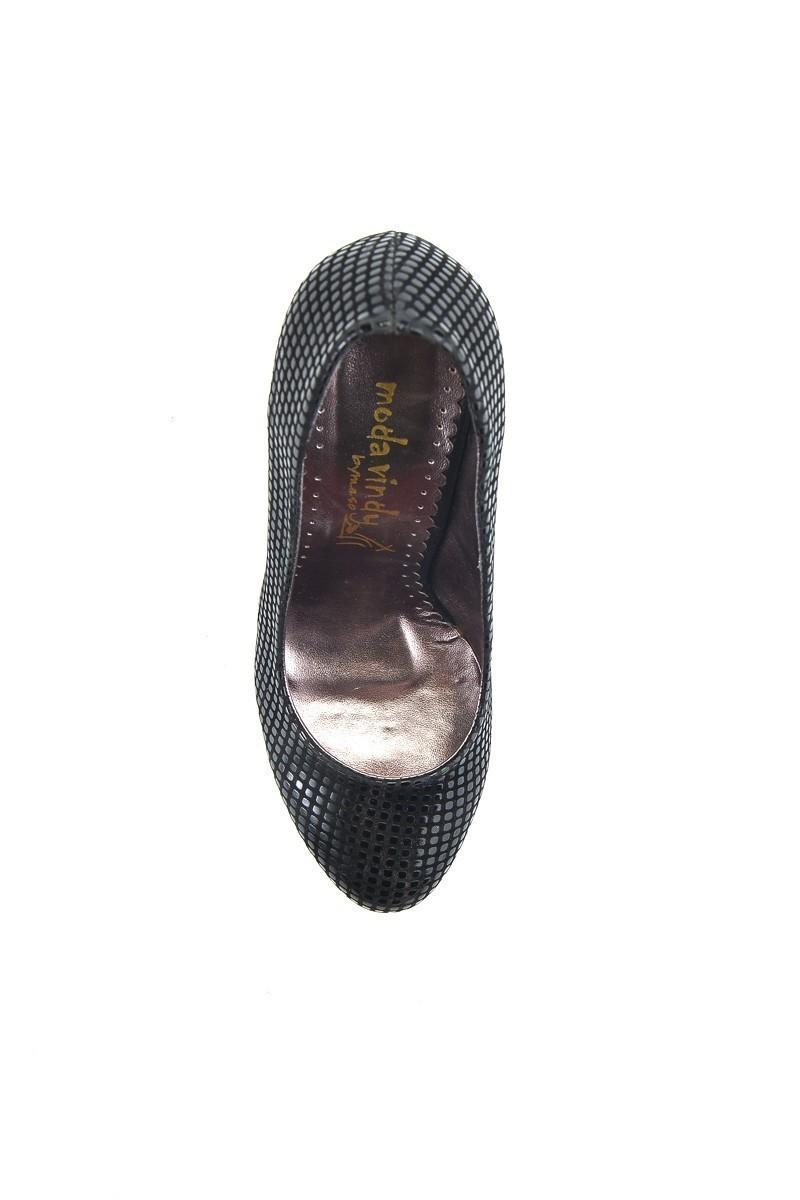 Moda Vindy Siyah MVD-PLT-1090 Platform Topuk Bayan Ayakkabı