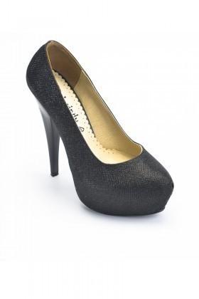 Moda Vindy Siyah MVD-PLT-1050-SYH Platform Topuk Bayan Ayakkabı