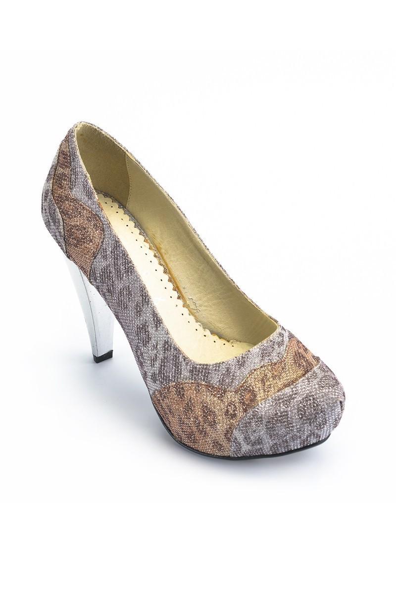 Moda Vindy Leopar MVD-PLT-1040 Platform Topuk Bayan Ayakkabı