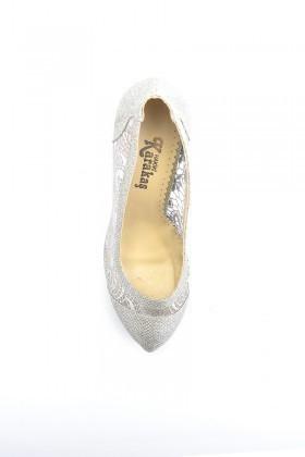 Moda Vindy Gümüş Rengi MVD-PLT-1005 Platform Topuk Bayan Ayakkabı