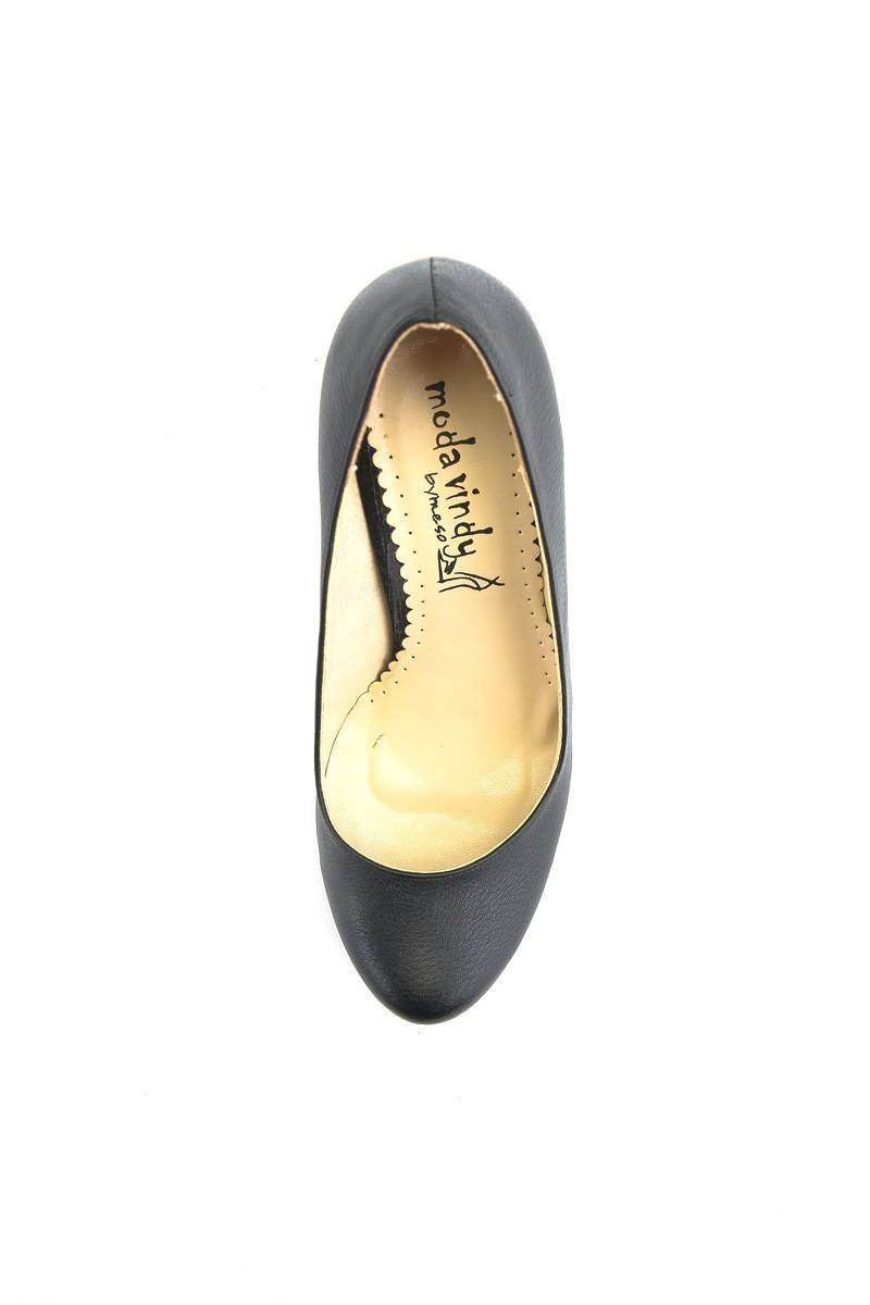 Moda Vindy Siyah MVD-DLG-6030 Dolgu Topuk Bayan Ayakkabı