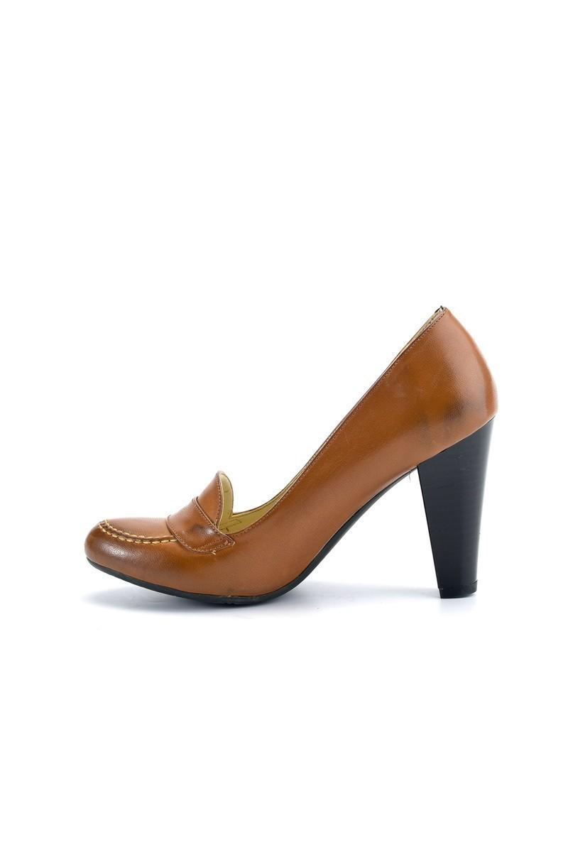 Moda Vindy Taba MVD-KLSK-4000 Klasik Topuk Bayan Ayakkabı