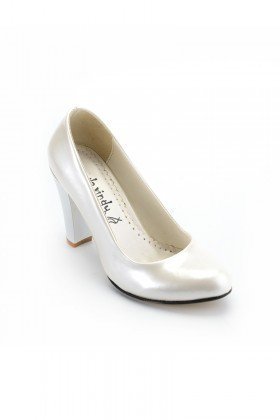 Moda Vindy Beyaz MVD-KLSK-4000 Klasik Topuk Bayan Ayakkabı