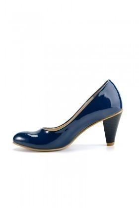 Moda Vindy Lacivert MVD-KLSK-2600 Klasik Topuk Bayan Ayakkabı