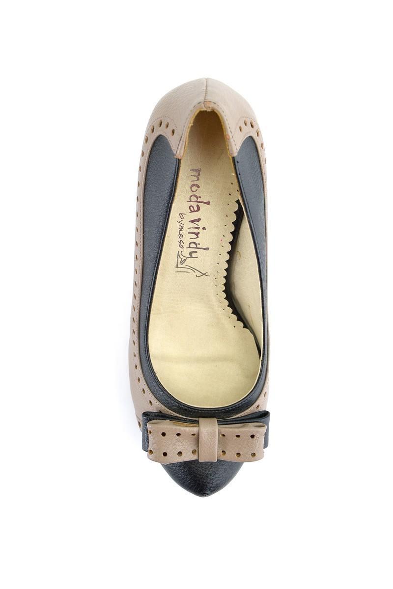 Moda Vindy Vizon-Siyah MVD-KLSK-2357 Klasik Topuk Bayan Ayakkabı