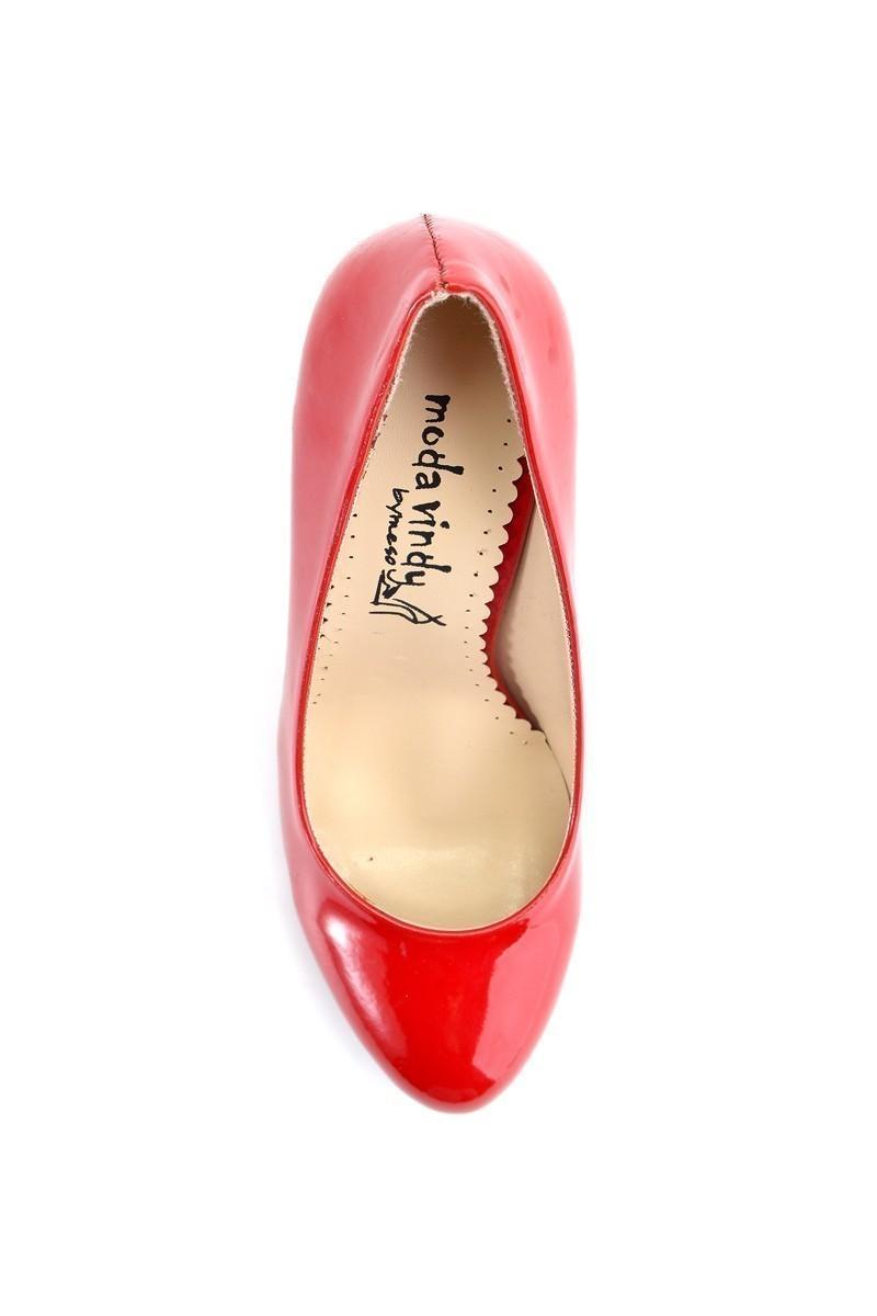 Moda Vindy Kırmızı MVD-KLSK-2313 Klasik Topuk Bayan Ayakkabı