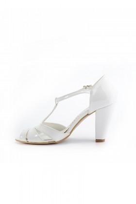 Moda Vindy Beyaz MVD-KLSK-1900 Klasik Topuk Bayan Ayakkabı