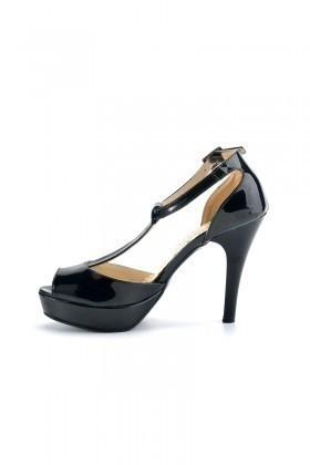Moda Vindy Siyah MVD-PLT-1606 Plartform Topuk Bayan Ayakkabı