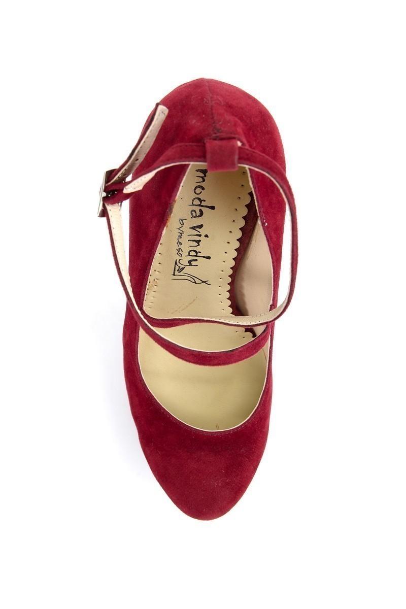 Moda Vindy Bordo MVD-PLT-1340 Plartform Topuk Bayan Ayakkabı