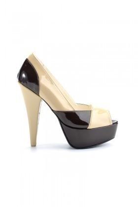Moda Vindy Vizon-Siyah MVD-PLT-1150 Plartform Topuk Bayan Ayakkabı