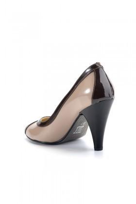 Moda Vindy Bej MVD-KLSK-1125 Klasik Topuk Bayan Ayakkabı