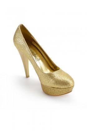 Moda Vindy Gold MVD-PLT-1065 Plartform Topuk Bayan Ayakkabı
