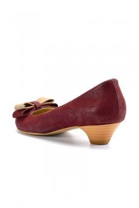 Moda Vindy Bordo MVD-KLSK-666 Klasik Topuk Bayan Ayakkabı