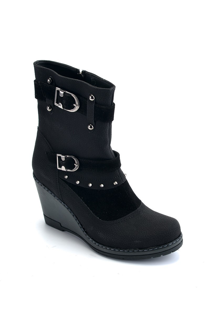 Divadonna Siyah DVNN-BOT-4085 Bayan Bot