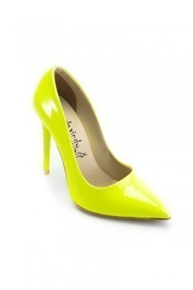 Moda Vindy Sarı MVD-STLT-550 Stiletto Topuklu Bayan Ayakkabı
