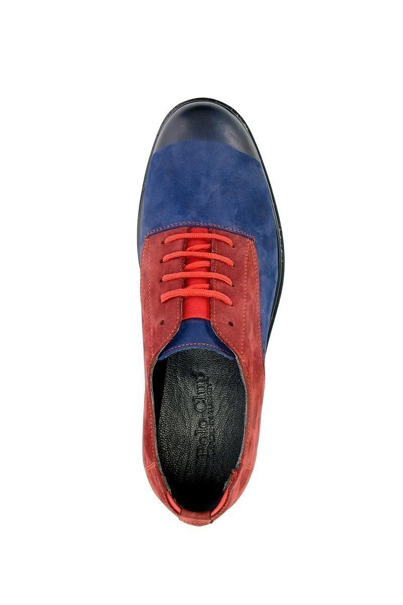 Polo Clup Mavi-Bordo PC-8066 Hakiki Deri Erkek Ayakkabı