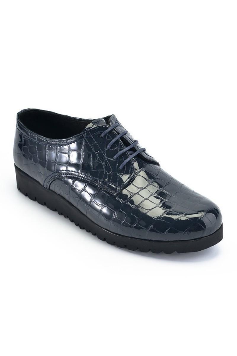 Maestracci Lacivert MCC-501-CROCO Hakiki Deri Bayan Ayakkabı