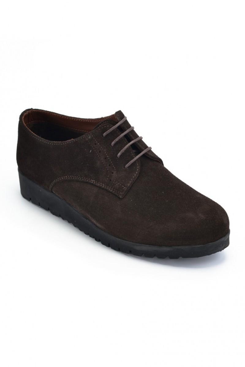 Maestracci Kahverengi MCC-501-SUET Hakiki Deri Bayan Ayakkabı