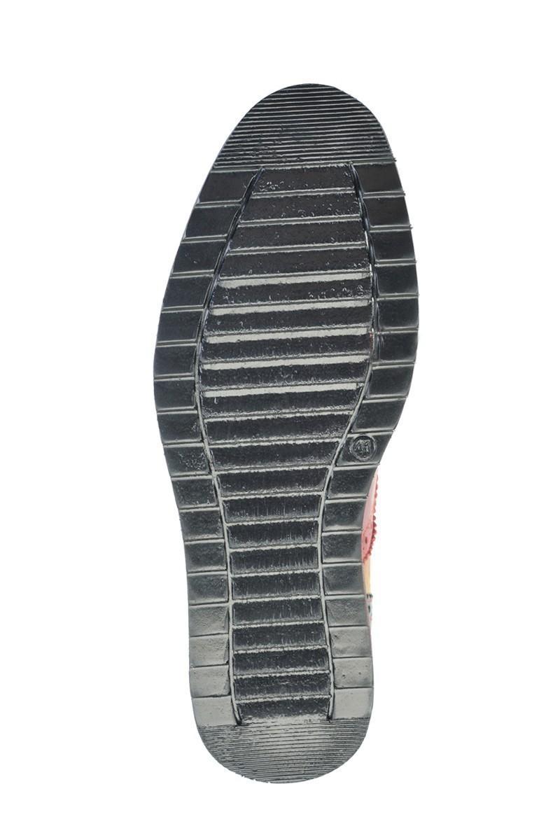 Polo Clup Siyah-Bordo PC-6666 Hakiki Deri Erkek Ayakkabı