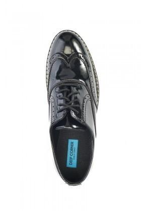Deep Corner Siyah-Beyaz DC-228 Erkek Ayakkabı