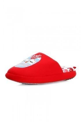 Twigy Kırmızı TWG-C0419 Tw Baykuş Bayan Ev Terliği