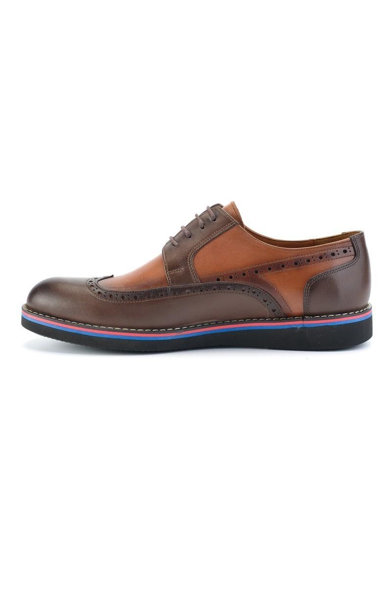 Wenetti Kahverengi-Taba WNT-7777 Hakiki Deri Erkek Ayakkabı