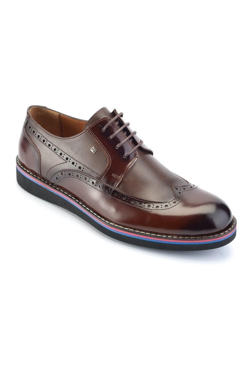 Wenetti Kahverengi WNT-1110 Hakiki Deri Erkek Ayakkabı