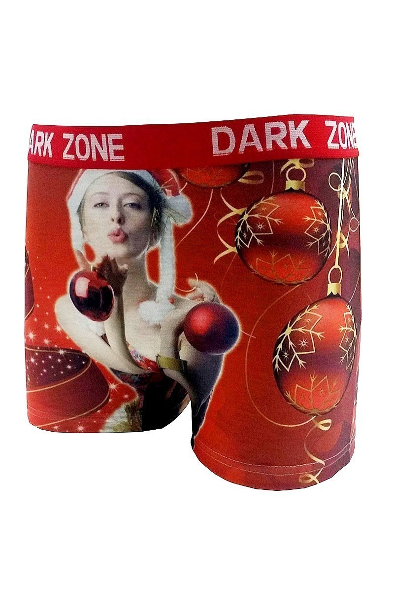Dark Zone Kırmızı DZN-1060 Yılbaşı Özel Erkek Boxer