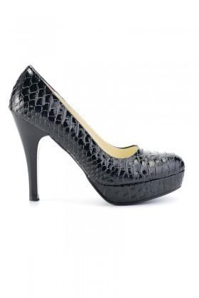 Moda Vindy Siyah MVD-PLT-1085 Plartform Topuk Bayan Ayakkabı