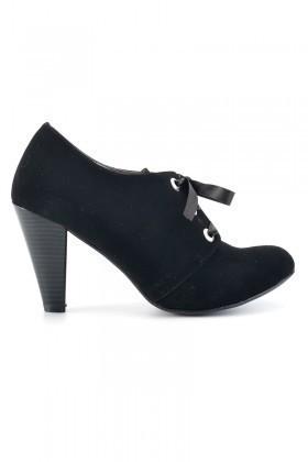 Moda Vindy Siyah MVD-KLSK-1818-SUET Klasik Topuk Bayan Ayakkabı