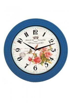 Tempo Mavi BL-1036 Duvar Saati