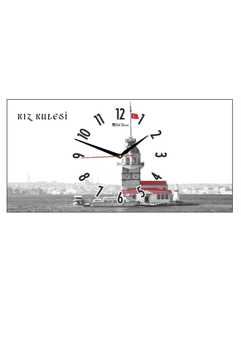 Tempo Beyaz DCAM-013 Kız Kulesi Duvar Saati