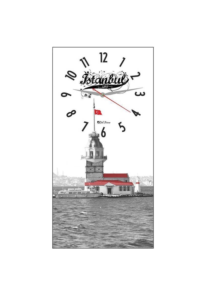 Tempo Beyaz DCAM-016 Kız Kulesi Duvar Saati