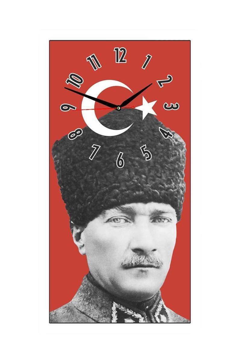 Tempo Kırmızı DCAM-019 Atatürk Duvar Saati