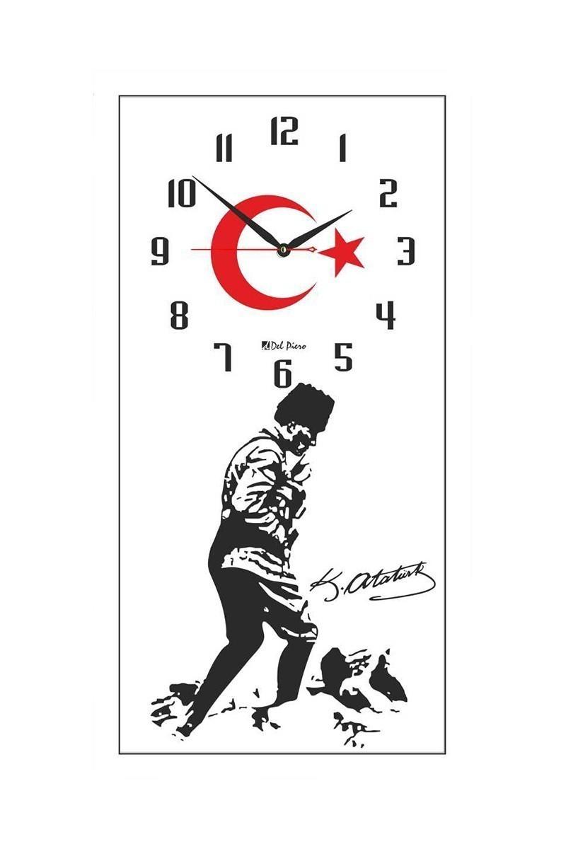 Tempo Beyaz DCAM-020 Atatürk Duvar Saati