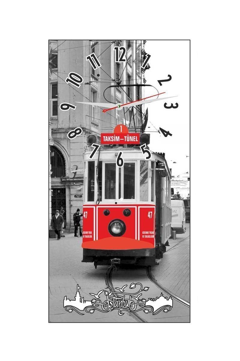 Tempo Gri DCAM-025 Taksim Duvar Saati