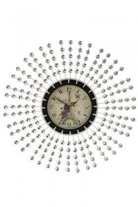 Tempo Beyaz DP-0578 Taşlı Duvar Saati