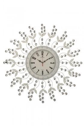 Tempo Beyaz DP-0577 Taşlı Duvar Saati