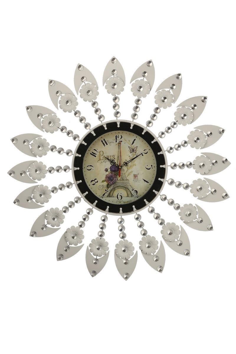 Tempo Beyaz DP-0574 Taşlı Duvar Saati