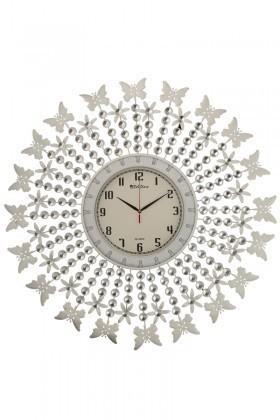 Tempo Beyaz DP-0572 Taşlı Duvar Saati