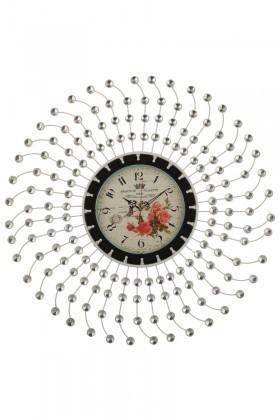 Tempo Beyaz DP-0571 Taşlı Duvar Saati
