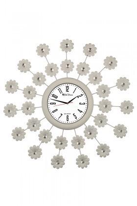 Tempo Beyaz DP-105-FRF-1 Taşlı Duvar Saati