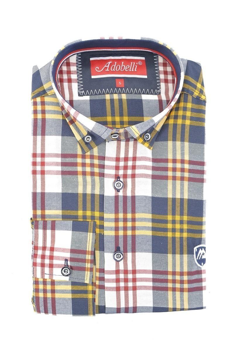 Adobelli Karışık Renkli ADB-113 Erkek Uzun Kollu Gömlek