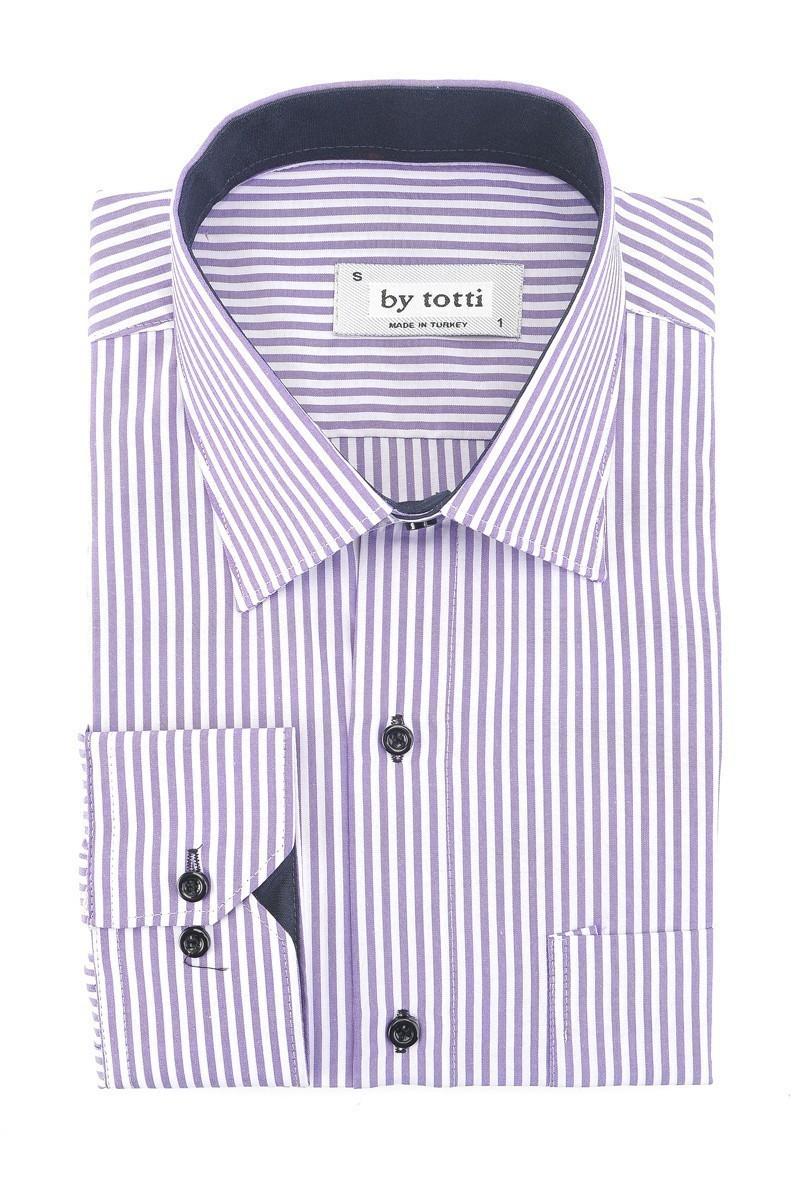 By Totti Mor BT-009 Erkek Uzun Kollu Gömlek